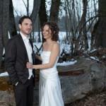 une photo de couple sous la neige en lorraine