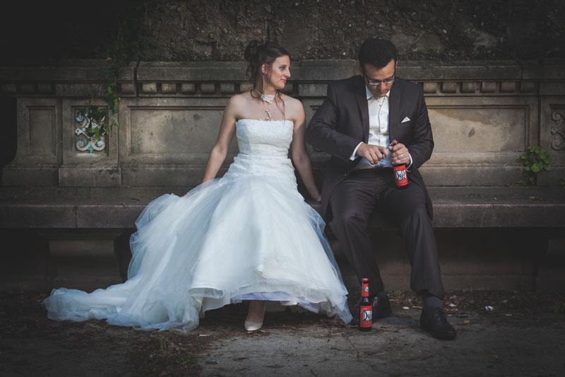 photo de couple originale avec de la bière