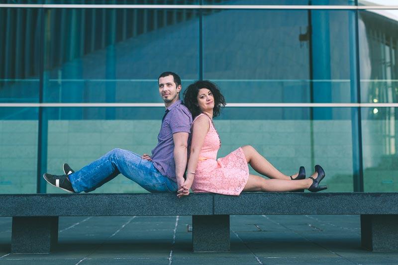 beautiful couple on bench