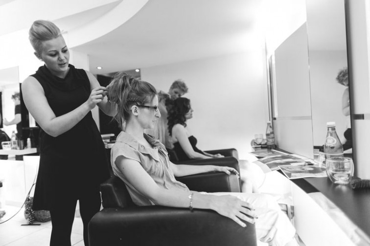 family hairdressing session in luxembourg