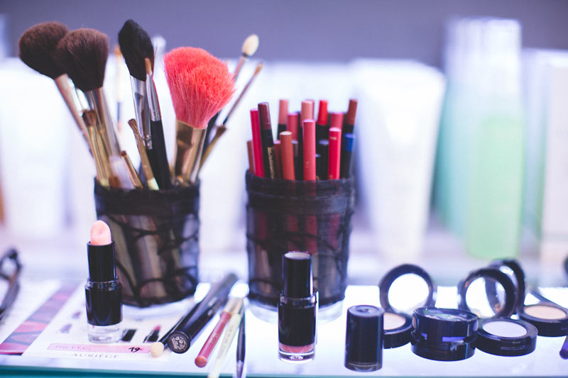 some make-up tools captured by the photographer
