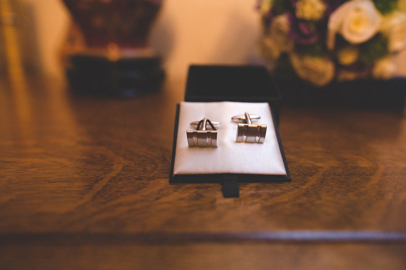 cuff links of the groom