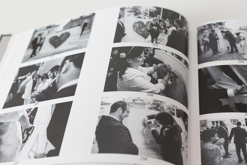 le livres d'épreuves contient toutes les photos du mariage