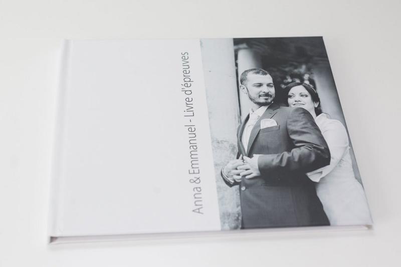 livre d'épreuves proposé par le photographe de mariage