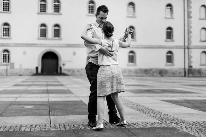 the photographer asked the couple to dance