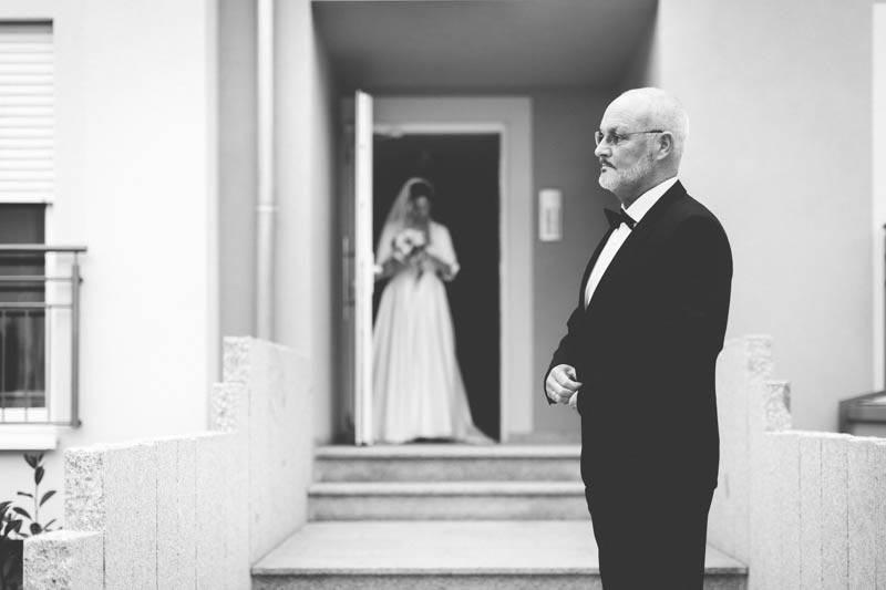 depart du cortege avant le mariage