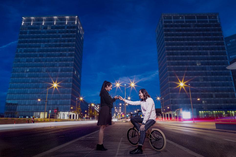demande en mariage sur un vélo au luxembourg