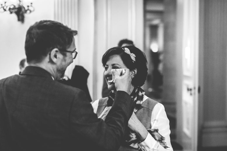 emotion and tears after the wedding ceremony