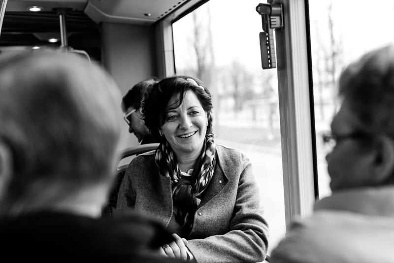 the bride on a bus ride