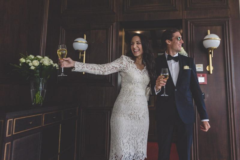 les mariés arrivent à la boqueria au kirchberg