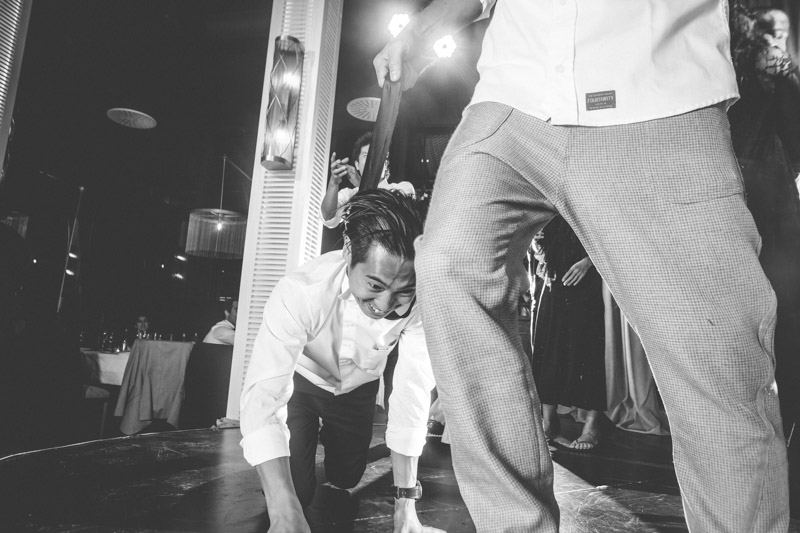 scène de folie durant le mariage