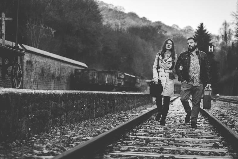 photo en noir et blanc d'un couple luxembourgeois