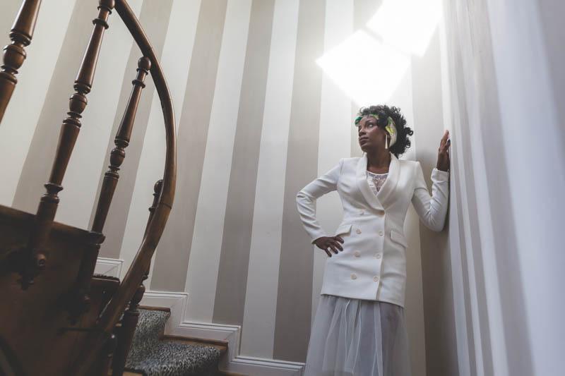 09 bride posing for photographer