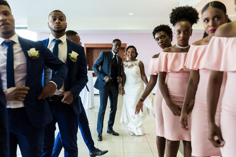 entrée des mariés sur la piste de dance