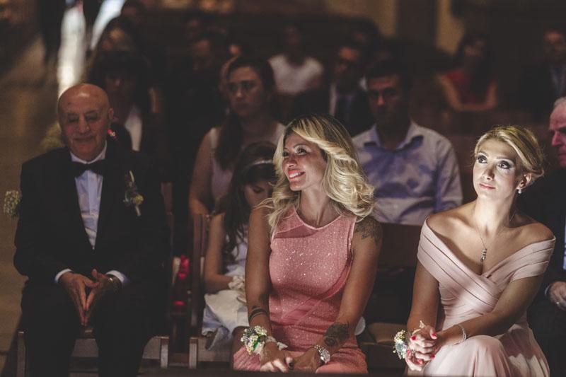 people watching wedding ceremony