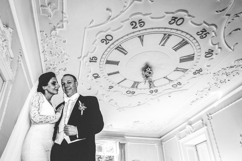 wedding portrait at the sept fontaines castle in luxembourg