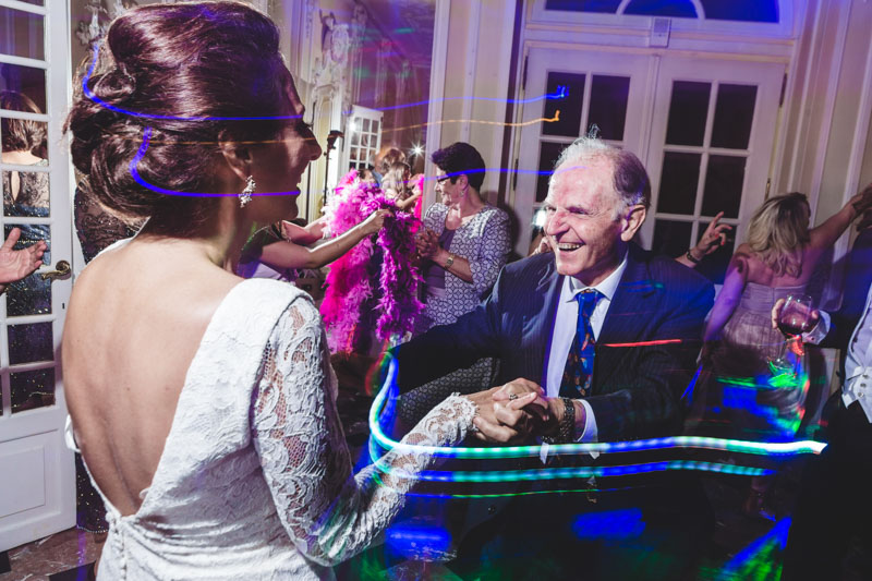 bride dancing with her grand dad