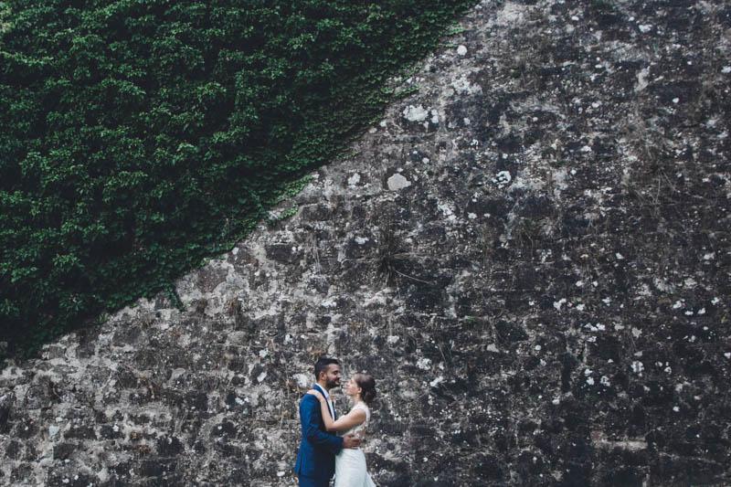 47 portrait des mariés avec lignes directrices symétriques