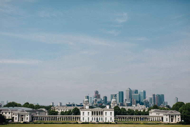 greenwich park and canary wharf