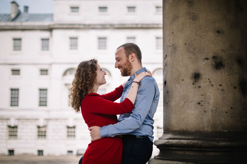 young couple in love at greenwich