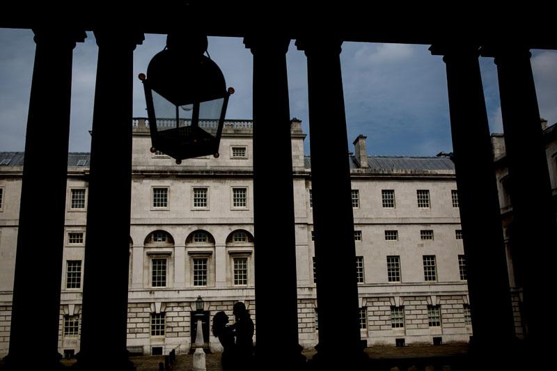 silhouette portrait in london