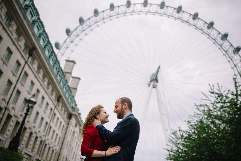 engagement session at the london eye