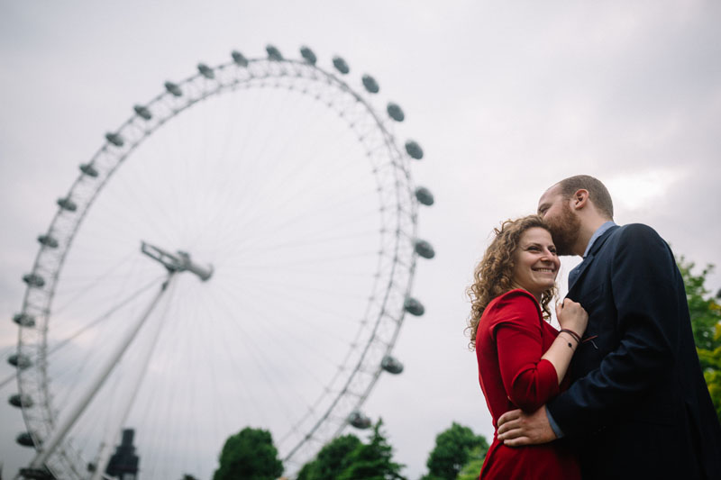people in front of the london eye