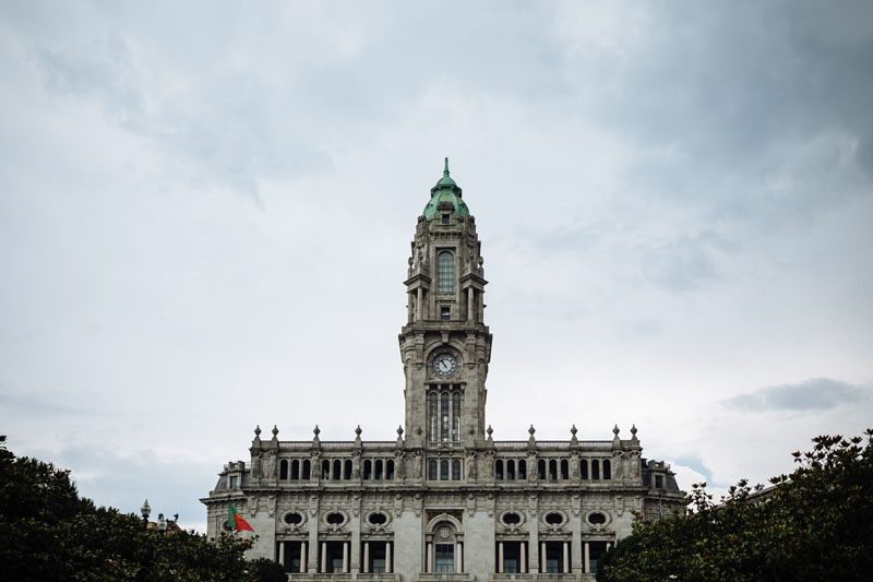 Porto City Hall on Liberdade Square