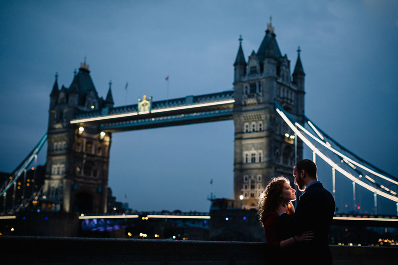 Tower Bridge in London for a wedding night photography