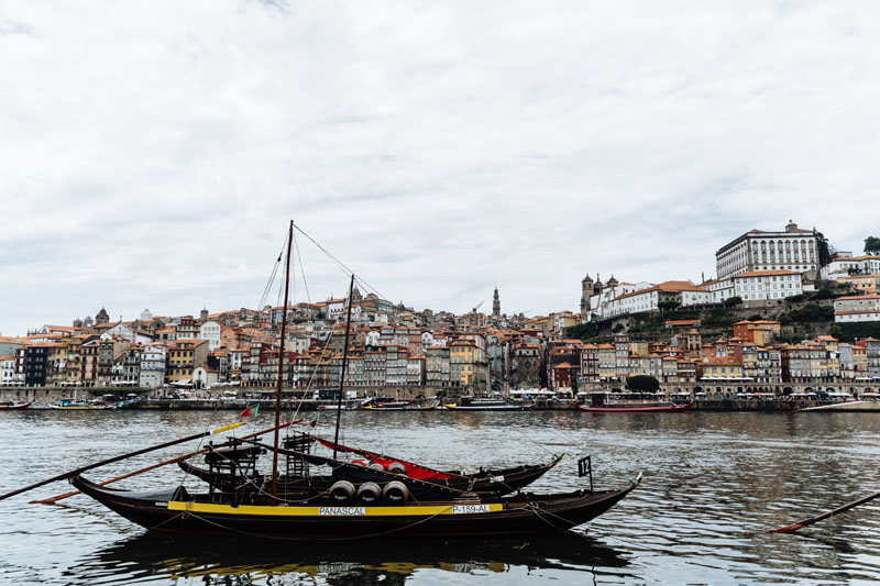 typical boat in Porto