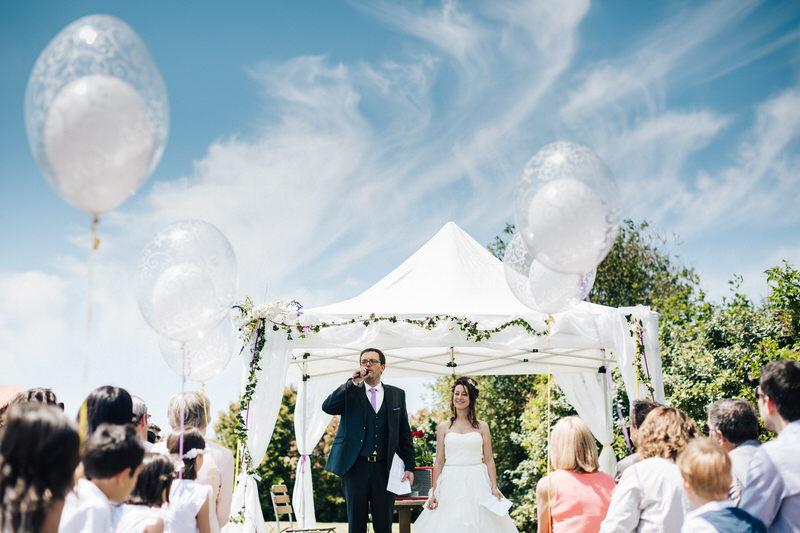discour du marié pendant la cérémonie laique