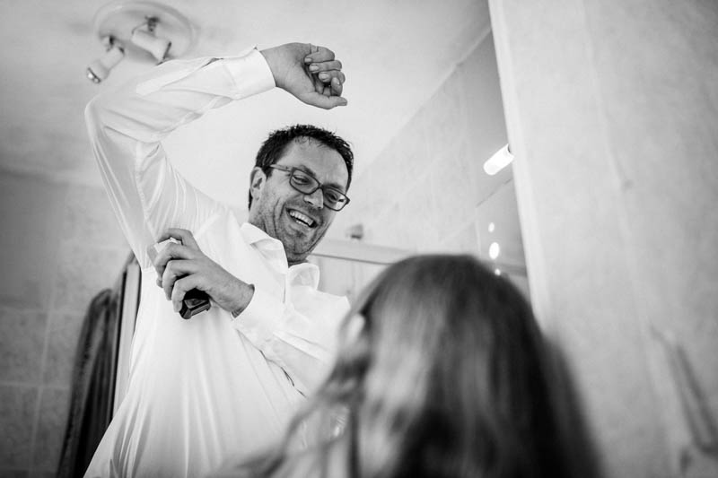 groom having fun