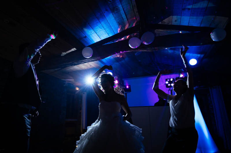 wedding party at domaine coeur de loire